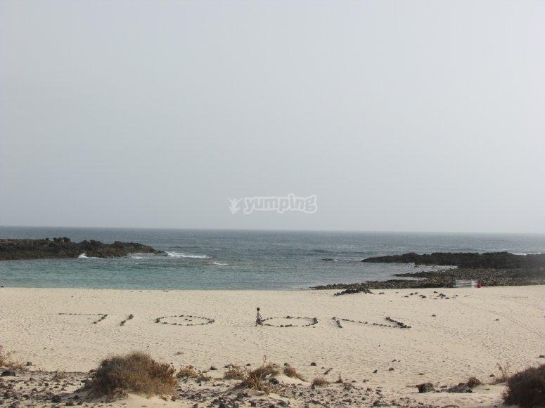 vistas de la playa de los Lagos