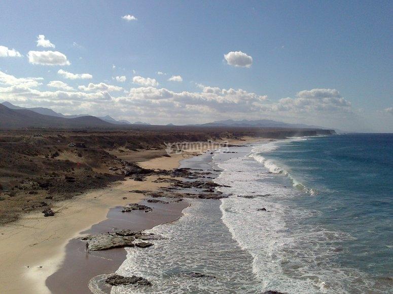Cotillo的美丽海滩