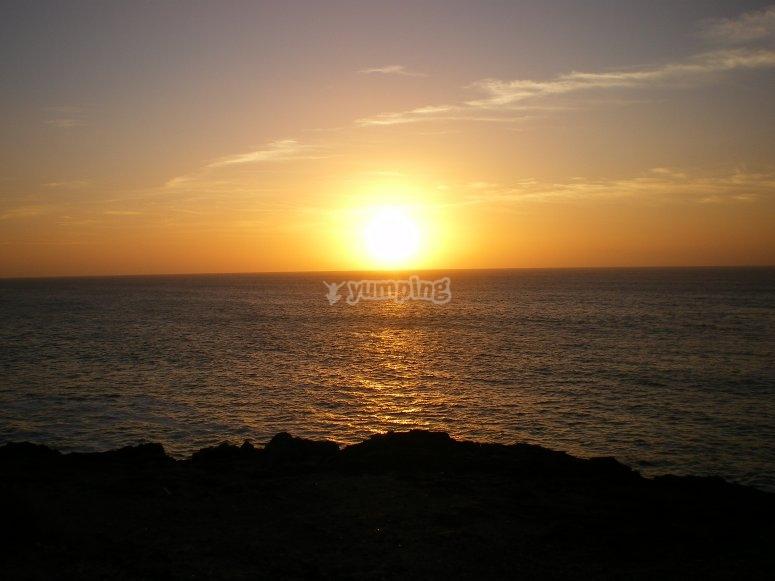 puesta de sol desde la Torre del Tostón