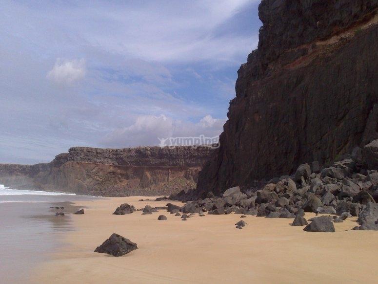 La playa del Esquinzo
