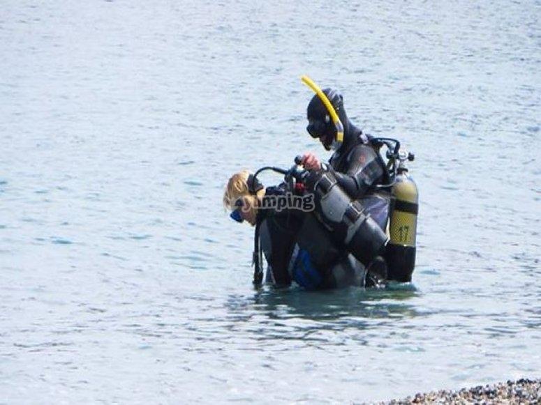 preparando inmersion