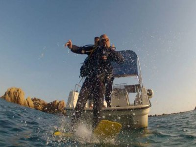 Diving Baptism From A Boat, Platja d