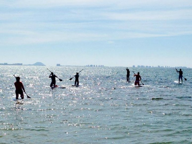 Stand up paddle surfing route