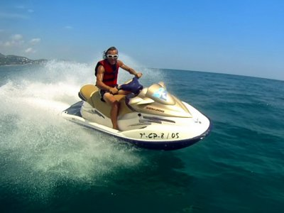 40 min Jet ski route from Cambrils.