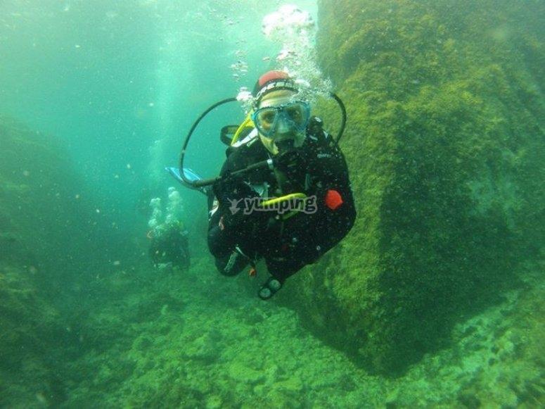en la profundidad del mar