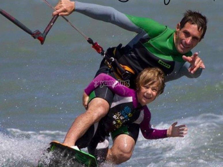 风筝冲浪的第一次体验