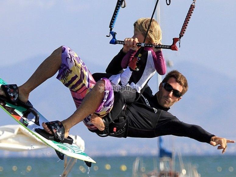 儿童风筝冲浪