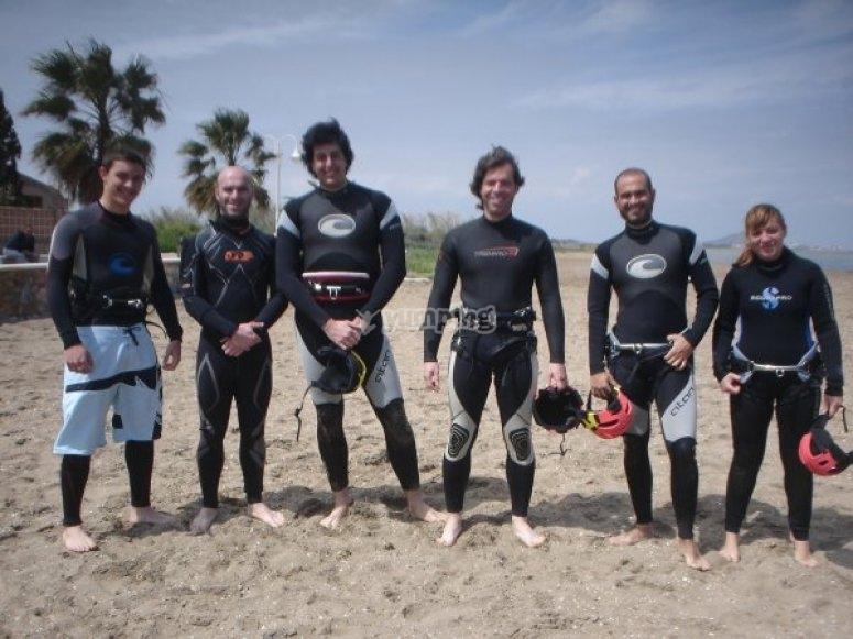 控制团队机动风筝冲浪风筝冲浪