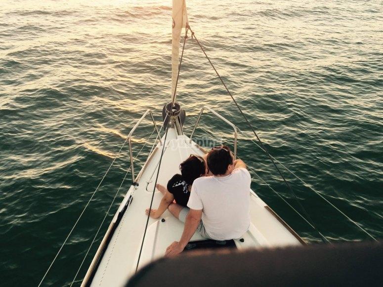 Paseo romántico en velero por Cádiz