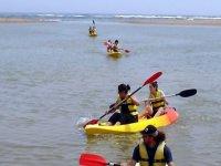Carrera de Kayaks