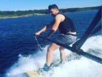 Aprendiendo wakeboard en Menorca