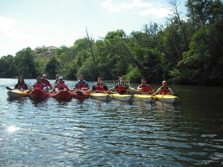 Águeda河的独木舟