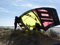 Kite en la arena