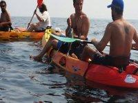 Jornada de pesca en los kayaks