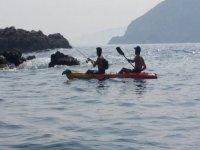 Pesca en kayak por la costa da Morte
