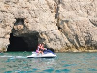 Jet ski next to the cave