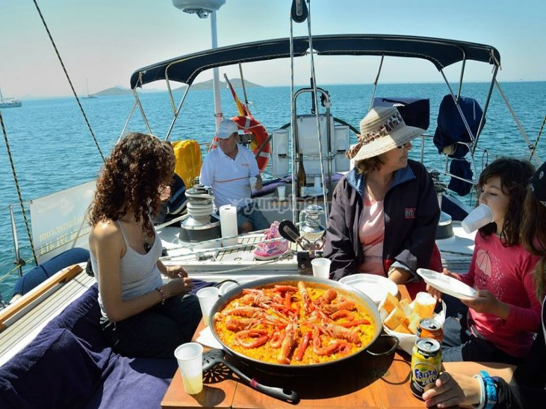 eating on board