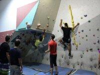 Training at the rocodromo