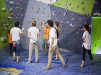Indoor climbing session