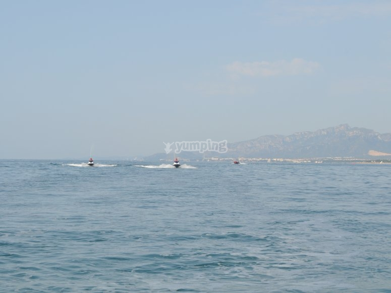 Jet skis in Cambrils