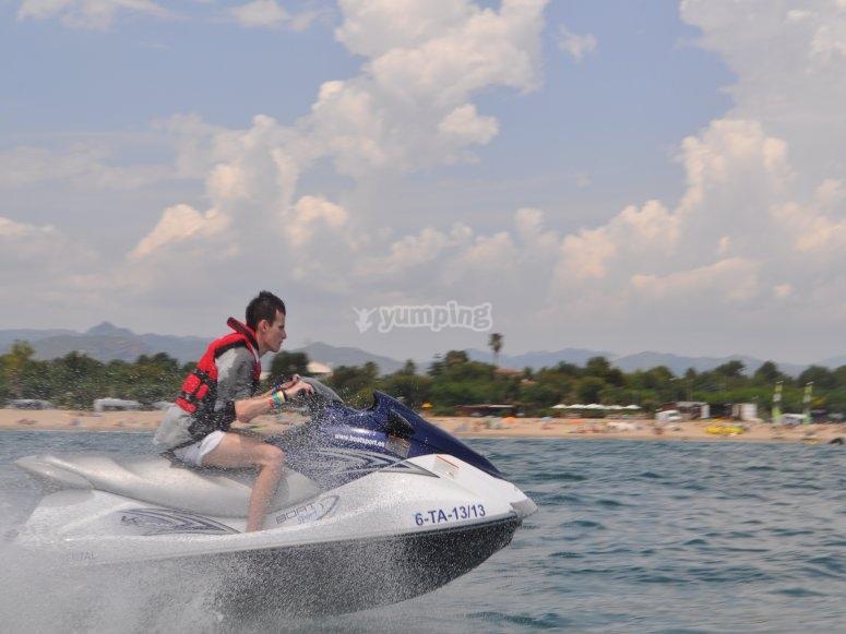 在Cambrils的水上摩托车游览