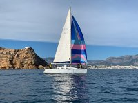 By sailboat