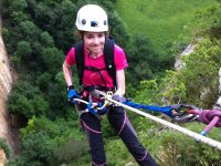 Starting Abseiling in Cueva de Mur with photos