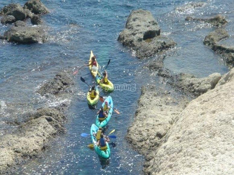 excursion en kayak almeria