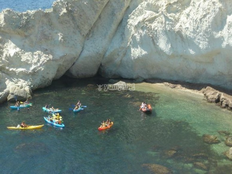 ruta en kayak cabo de gata