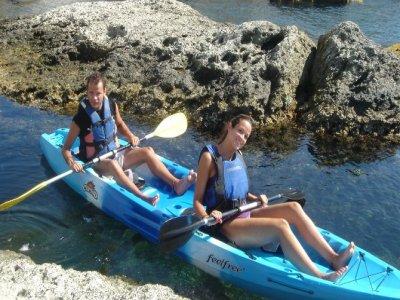 Ruta en kayak y snorkel en Cabo de Gata