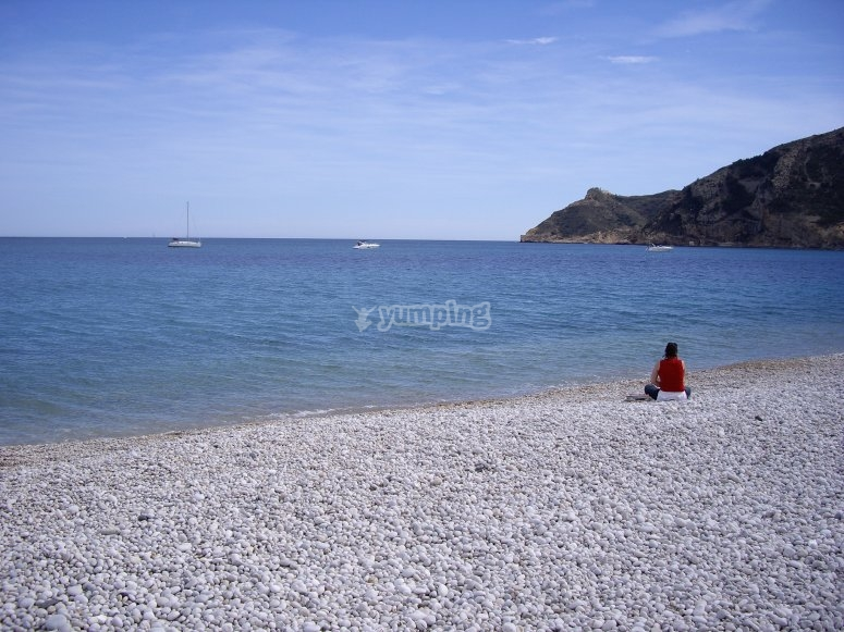 Playa de Altea moto de agua