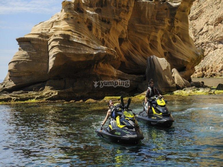 Excursión en moto de agua a la Sierra Helada