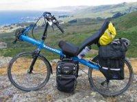 Bicicleta de montaña y vistas