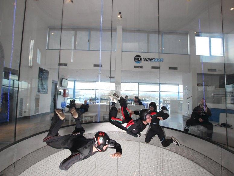 vuelo en grupo