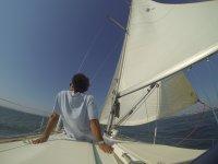 Tranquilidad en el mar