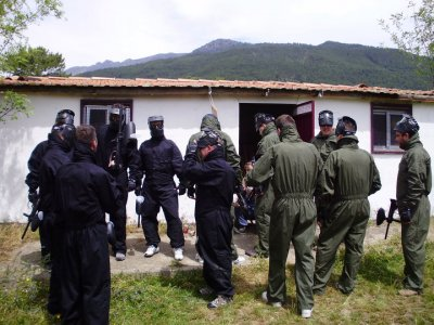 Despedida con paintball, novio gratis, Piedralaves