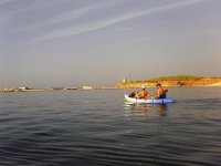 Saliendo de ruta maritima en kayak