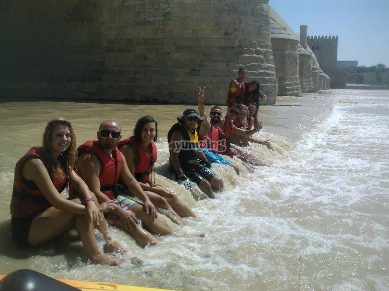 Kayak puento romano Córdoba