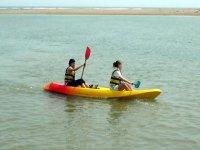 En la canoa hay que estar muy coordinados