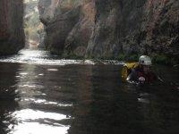 Flotando en el agua