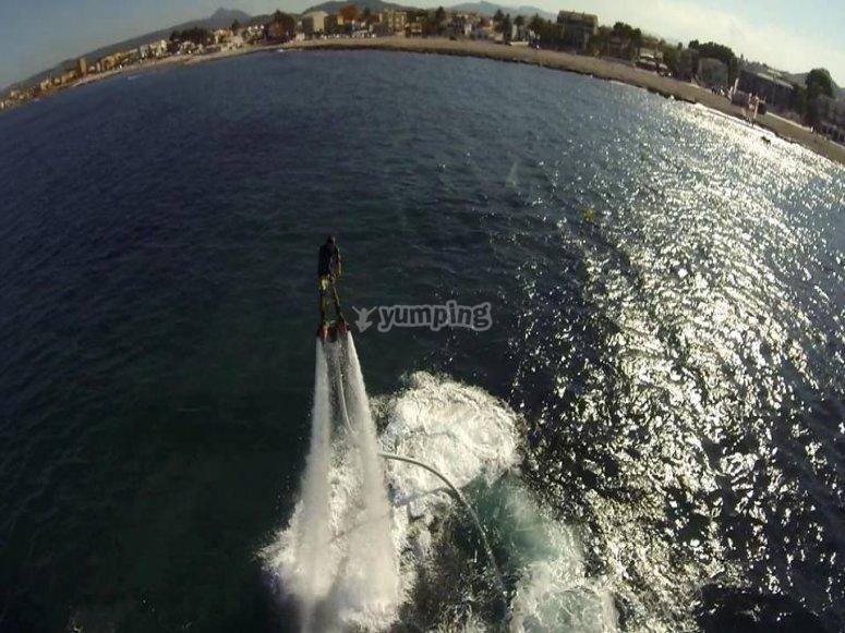 flyboard a lo iroman