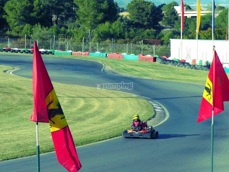 Circuito de karts 750 metros en Oropesa