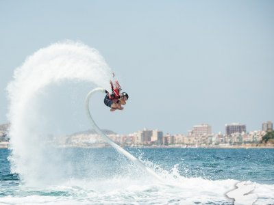 Flyboard flight in Puerto de Mazarrón
