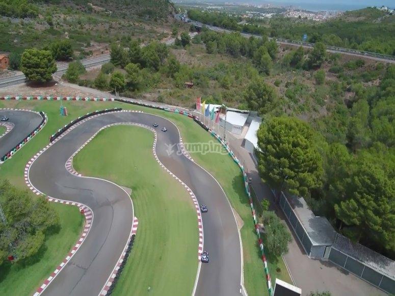 Vista aérea de circuito Oropesa