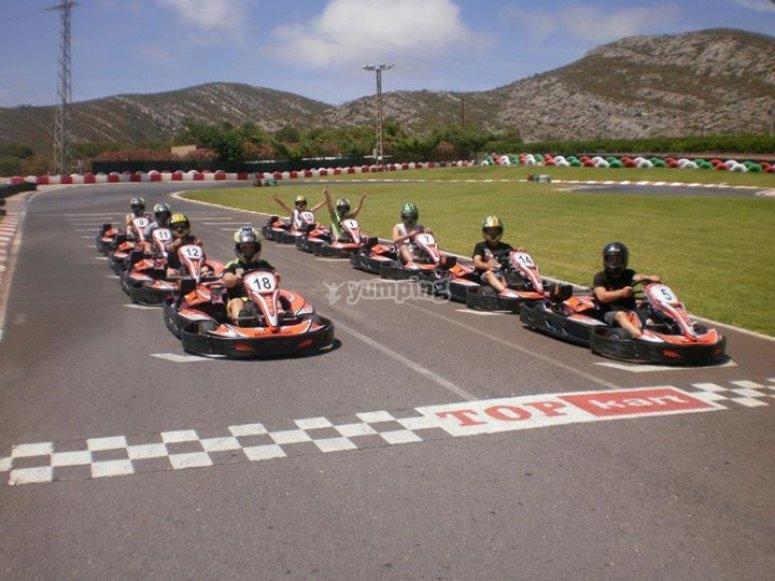 Gran Premio karts en Oropesa grupos