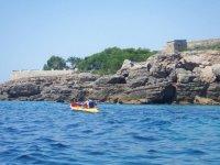 Hacia las calas en kayak