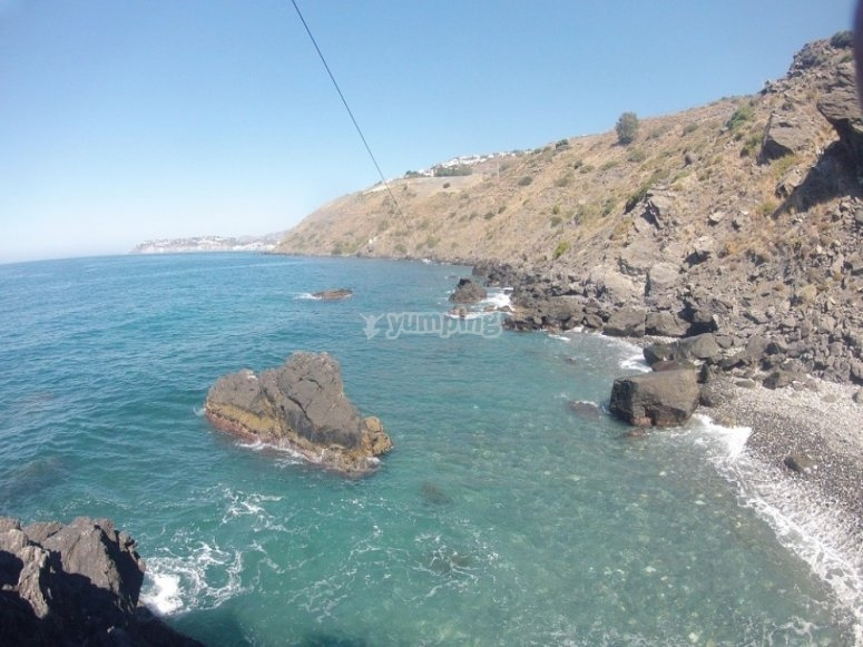 Kayaks, tirolina y snorkel