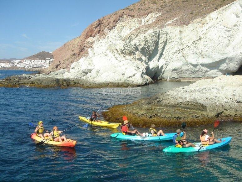 Kayak por la costa