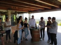 Tasting on the porch of the winery