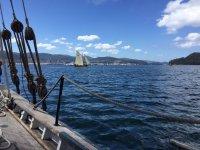 Classic sailboats in Galicia